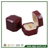 Caixa de madeira do anel da jóia do Octagon por atacado