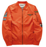 Куртка бейсбола Военно-воздушных сил одного размера способа подходящее вышитая пилотная