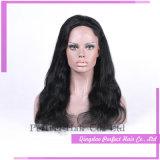 Pelucas negras largas brasileñas del pelo humano del frente completo del cordón