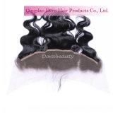 Venta al por mayor frontal del pelo de la Virgen del cordón peruano de la fábrica del pelo