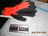 Handschoenen Dcr101 van het Werk van het Latex van de Voering van de fluorescentie de Oranje Zwarte Kreuk Gebeëindigde