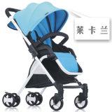 Blaues Sommer-Baby-Spaziergänger-Stahl-Gefäß