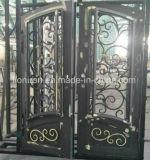 Wohnstahleintrag-Tür-niedriger Preis-bearbeitetes Eisen-Sicherheits-Türeinstieg-Tür