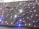 結婚式ショーのための適用範囲が広い表示LED星の背景幕の白いカーテン