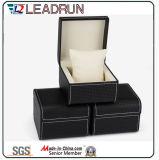 Caja de embalaje de empaquetado de la visualización del regalo del embalaje del reloj del caso del almacenaje del reloj del papel de cuero del terciopelo del rectángulo del reloj de madera (YS193)