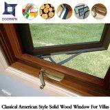 Guichet américain de tissu pour rideaux en bois solide de type (réseau externe), guichet en bois solide de modèle de voûte avec le gril léger externe