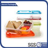 Un imballaggio per alimenti dei 2 scompartimenti e casella di pranzo della materia plastica