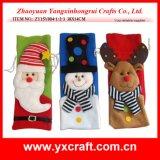 Decoración de Navidad (ZY14Y380-1-2) Espantapájaros de la fábrica del arte de la Navidad