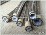 Tubo flessibile di Teflon intrecciato dell'acciaio inossidabile del tubo flessibile della toletta con il tubo interno liscio ed ondulato