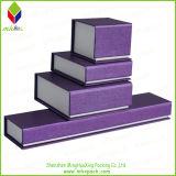 Caja de joyería de papel rígido colorido