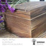 Hongdao quemó el rectángulo de madera del color con las bisagras y el bloqueo