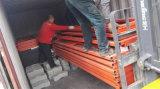 Plataforma hidráulica del cargamento del envase de la vibración