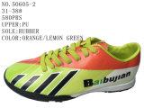 3 ботинка футбола детей PU цвета