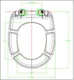 Siège des toilettes de forme ronde de ralentissement d'uF