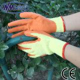 Латекса сбывания Nmsafety перчатка безопасности дешевого Ирана горячего померанцового Coated
