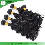 Extensão superior não processada do cabelo do Virgin do brasileiro da onda 100% do corpo do cabelo humano