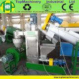 Fábrica que hace el plástico que machaca reciclando la planta del fregado de las botellas del HDPE de las máquinas