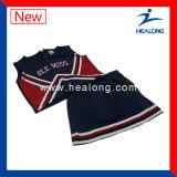 Uniformes ajustados do Cheerleading da equipe de Cheerwear das mulheres