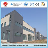 Construction d'atelier/entrepôt de structure de bâti en acier de modèle de construction