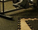 オイル抵抗のゴム製マット、スリップ防止連結の体操のゴム製床のマット、反細菌のゴムマット