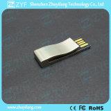 Flash Drive 2017 Nuevo diseño del clip del metal con el logotipo USB (ZYF1758)