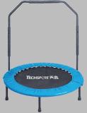 トランポリンのバンジーコードが付いている円形の小型トランポリン