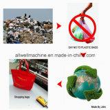 Nicht gesponnene Plastiktasche, die Maschine herstellt