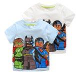 놀라운 일 영웅 100%년 면 둥근 목 간결 소매 평야 t-셔츠