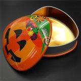 Коробка печенья подарка Tinplate Halloween упаковывая (T001S-V27)