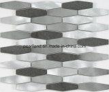 De Tegels Aashrb2202 van de Muur van de Badkamers van Backsplash van de Keuken van de Decoratie van de Tegels van Matel van de Steen van de Tegels van het Mozaïek van het aluminium
