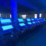 Luces profesionales impermeables al aire libre de la etapa del color LED 72X12W de la ciudad