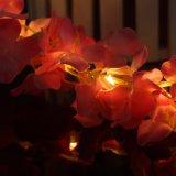2m20LED電池式の花輪は休日の装飾をつける