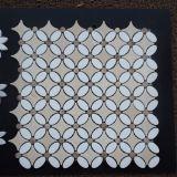 Le mattonelle lussuose di Backsplash della cucina del mosaico del marmo di disegno
