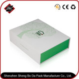 Het groene Vakje van de Verpakking van het Document van de Gift van de Rechthoek voor Schoonheidsmiddel