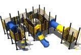114mm galvanisiertes Pfosten-buntes luxuriöses rostfreies gerades Plättchen und Knochen-Brücken-Kind-im Freienspielplatz-Gerät
