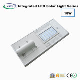 Ce y certificado de RoHS 18W PIR Sensor Integrado LED Solar Garden / Street Light