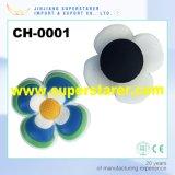 安い高品質ゴム製パッチ3Dの花の障害物は魅力に蹄鉄を打つ