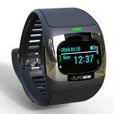 0.96 Zoll OLED IP65 imprägniern intelligente Uhr mit Doppelbändern Bluetooth u. dynamischem Puls, ECG, Blutdruck, Schlaf-Monitor