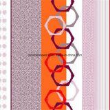 100%Polyester la figura geometrica Pigment&Disperse ha stampato il tessuto per l'insieme dell'assestamento