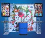 Soporte de visualización portable de la cabina del braguero de la feria profesional del soporte de la visualización TV de la exposición