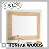Frame de madeira do espelho do retângulo branco moderno do leite