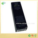 Cosmético do petróleo verde-oliva que empacota a caixa de papel preta com carimbado (CKT-CB-329)