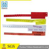 Bandes faites sur commande de bracelet de bracelets de plastique vinyle de carte de garniture intérieure d'hôpital