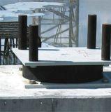 Faisceau de fil caoutchoutifère pour l'isolement séismique de passerelle