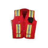 Veste reflexiva da segurança da alta qualidade com classe 2, CSA Z9609