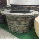 """37 """" خارجيّ خشبيّة مشتعلة نار حفرة طاولة مع ثقافة حجارة قاعدة"""