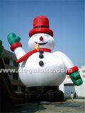 Fumetto gonfiabile personalizzato del pupazzo di neve per la decorazione di natale