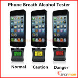 2 en 1 Probador de Alcohol Apple Alcohol Probador de Aliento LCD Breath Alcohol Tester