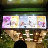 대중음식점 LED 메뉴 널 호리호리한 LED 가벼운 상자