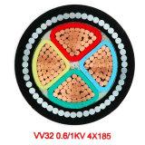 Cabo distribuidor de corrente 3 x 35mm de baixa tensão H07V-U cabo blindado de 4 núcleos com BS7671 IEC604460